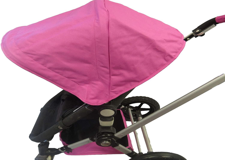 분홍색 태양 그늘 캐노피와 좌석에서 큰 저장 바구니에는 무료 무 핸들 커버 도깨비는 카멜레온은 1 2 3 개구리 아기 유모차