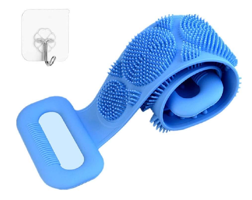 HCN7 실리콘 목욕체 브러시-각질 실리콘체 스크러버와 소프트 팁이-실리콘 샤워 스크러버의 백 인체 공학적인 실리콘에 대한 세미 여자와 남자-실리콘 다 져-오