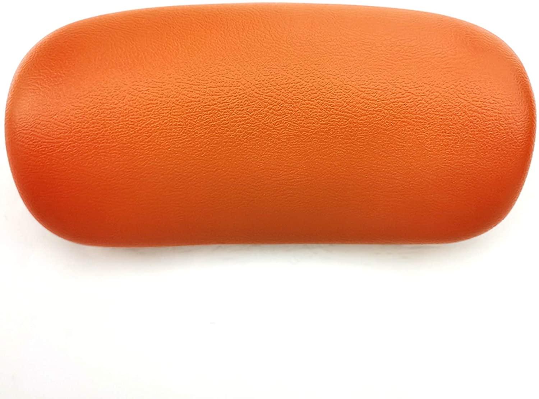 AKEFG 목욕 베개 스파 욕조 베개를 가진 2 개의 흡입 컵 을 지원하는 데 도움이 머리 뒤 어깨와 목에 맞는 모든 욕조 스파 욕조 및 홈 스파 오렌지