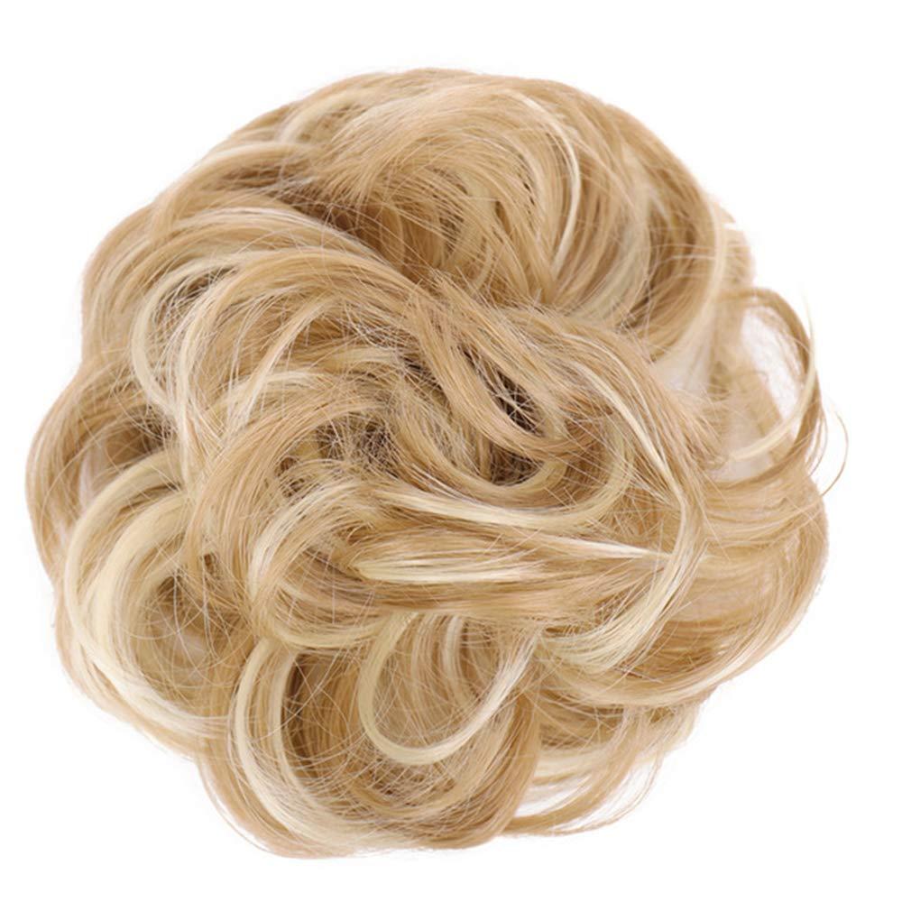 자매 꿈 지저분한 롤빵 머리 SCRUNCHIES 여성을위한 지저분한 롤빵 머리 조각 곱슬 물결 모양의 SCRUNCHY UPDO 롤빵 확장 CHIGNON( 27 | 613)