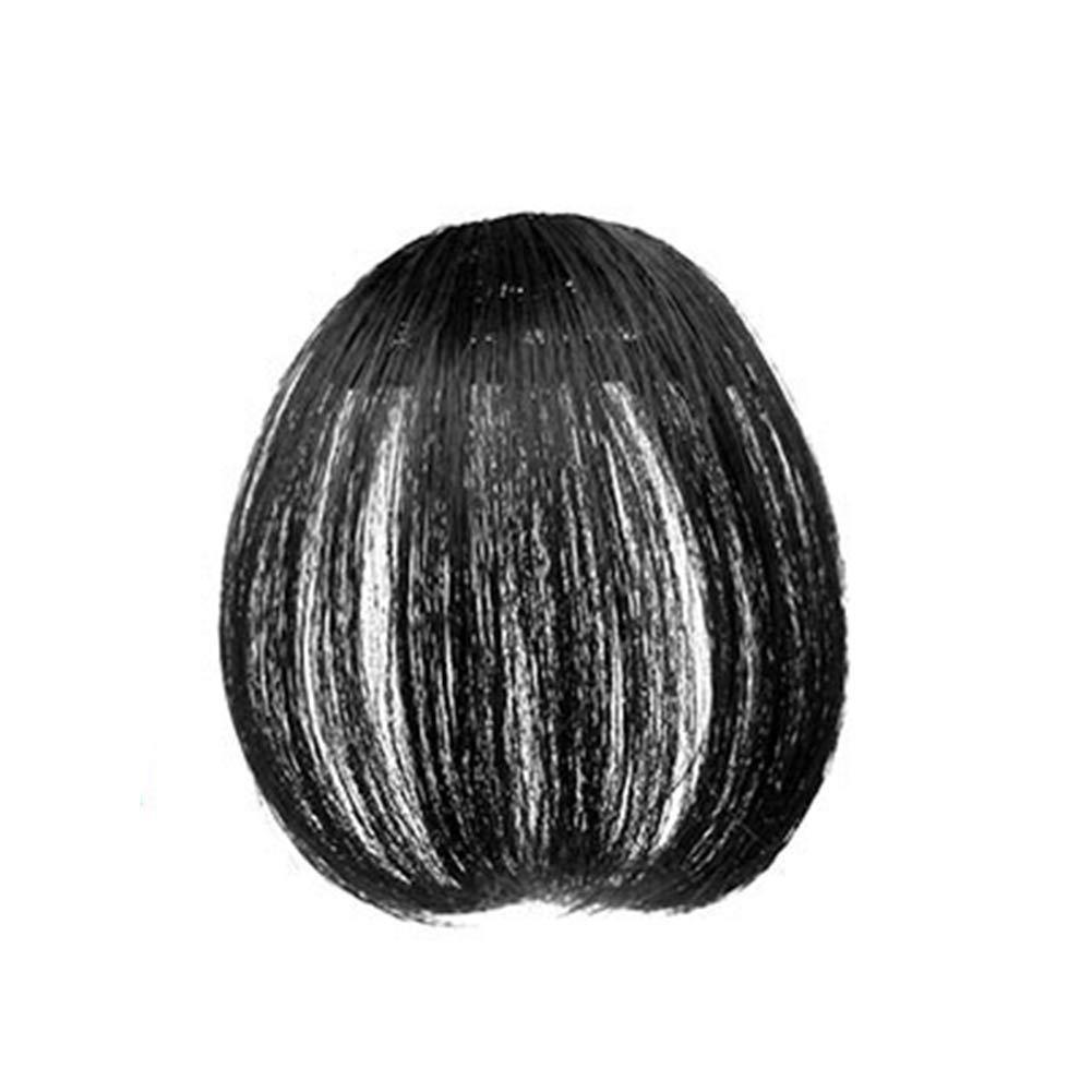 TOATALOPEN 인간의 머리카락 AIR 앞머리를 가짜 헤어스타일 패션 숙녀 얇은 클립에어 방 앞 프린지 머리 가발 헤어스타일 확장자 자연 검은 색과 SIDEBURN