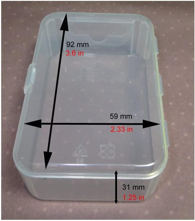 작은 부품 공예 구슬 보석 및 시계 부품에 대한 힌지 뚜껑이있는 메이멈 작은 플라스틱 상자 (6 상자 클리어)