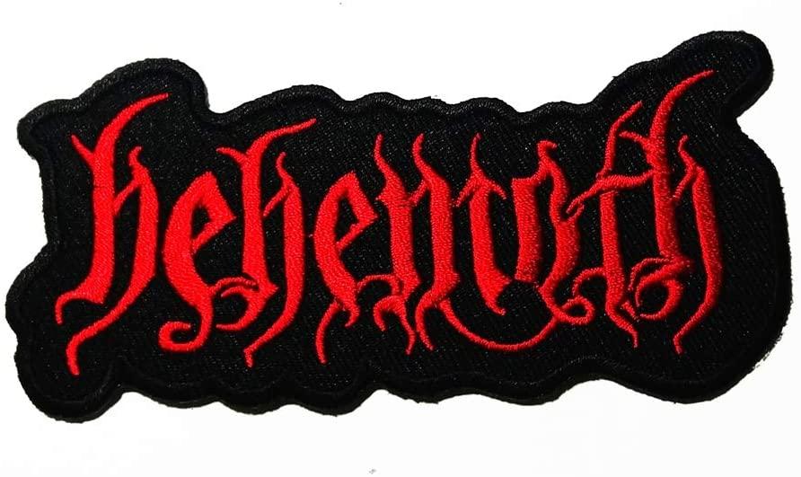 음악 B 블랙 데스 메탈 데스 메탈 블랙 메탈 밴드 음악 로고 패치 배지 가방에 바느질 아이언 모자 청바지 신발 T 셔츠 아플리케