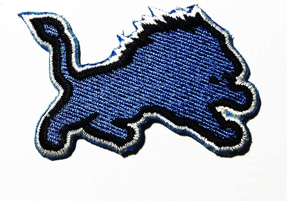 TEAM SPORT LIONS AMERICAN FOOTBALL NFL LOGO PATCH EMBROIDERED SEW IRON ON PATCHES BADGE BAGS HAT JEANS SHOES T-SHIRT APPLIQUE