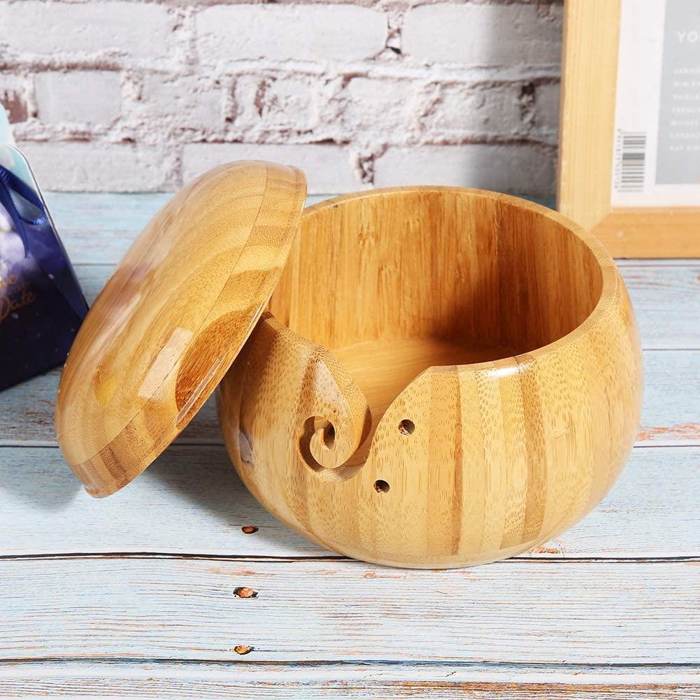 라운드 스토리지 박스 환경 보호 실용적인 원사 그릇 뜨개질 뜨개질을위한 방습 크로 셰 뜨개질 DIY 애호가