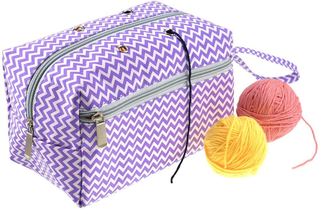 루엔 원사 수납 가방 크로 셰 뜨개질 프로젝트 원사 스케인스 크로 셰 뜨개질 후크 뜨개질 바늘 바느질 액세서리 수공예품 (스타일 3 L)