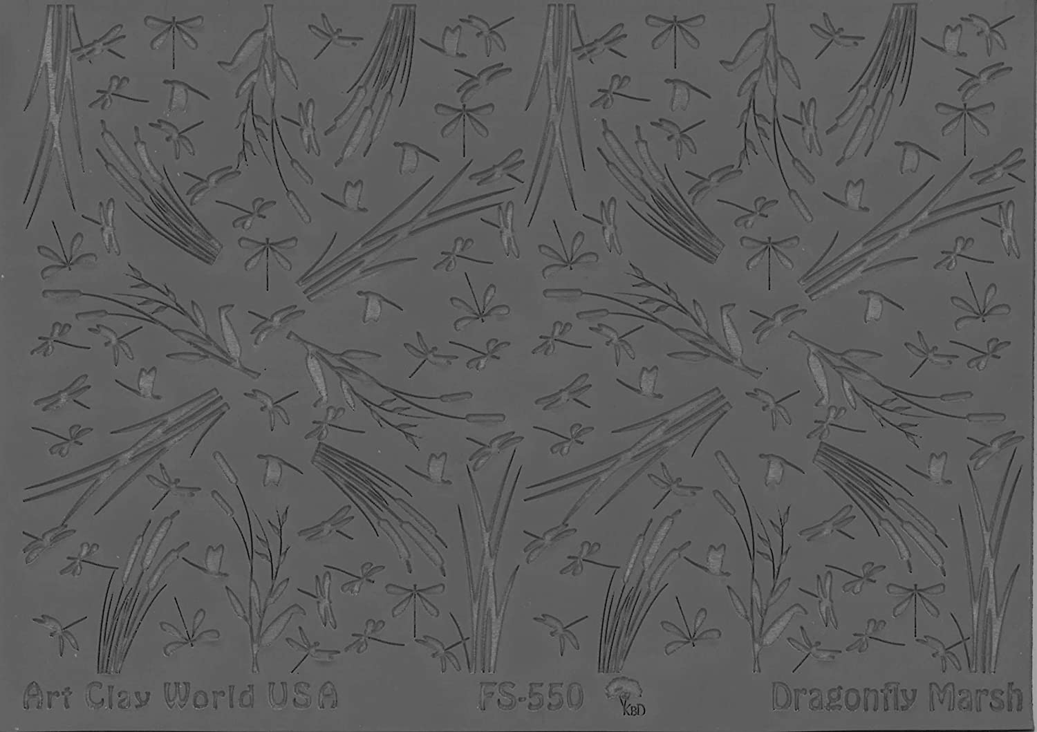 FLEXISTAMPS TEXTURE SHEETS DRAGONFLY MARSH DESIGN - 1 PC