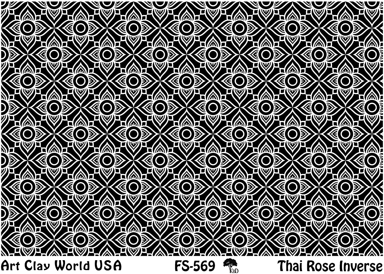 플렉시 스탬프 텍스처 시트 타이어 로즈 역 디자인 - 1 PC