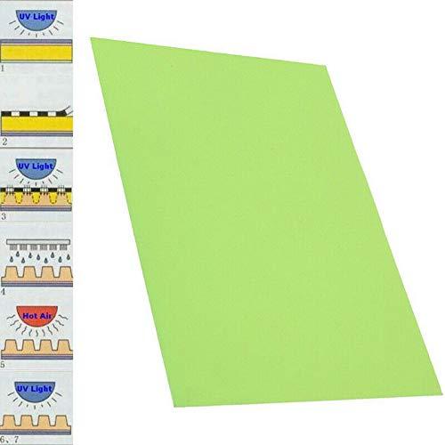 마노치 고무 스탬프 제작 포토폴리머 플레이트 크래프트 레터프레스 시트 DIY 재료: 수지 색상: 라이트 그린 길이: 30CM | 11.8`` 너비: 20CM | 7.9